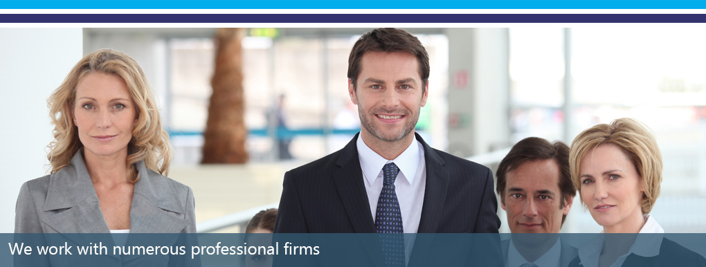 We Work With Professional Firms